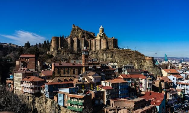 Historyczna część śródmieścia tbilisi w gruzji