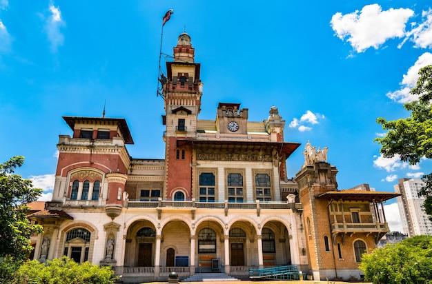 Historyczny budynek palacio das industrias mieszczący muzeum nauki catavento w sao paulo
