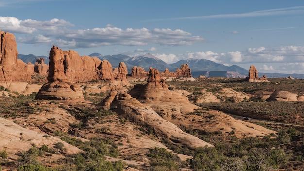 Historyczny park narodowy arches w stanie utah, usa