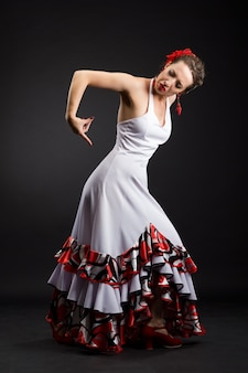 Hiszpańska tancerka flamenco