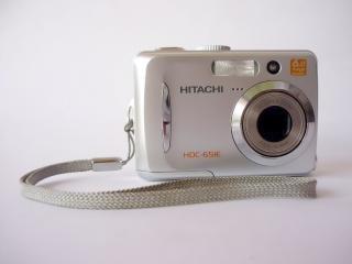Hitachi aparat cyfrowy, z boku, cam