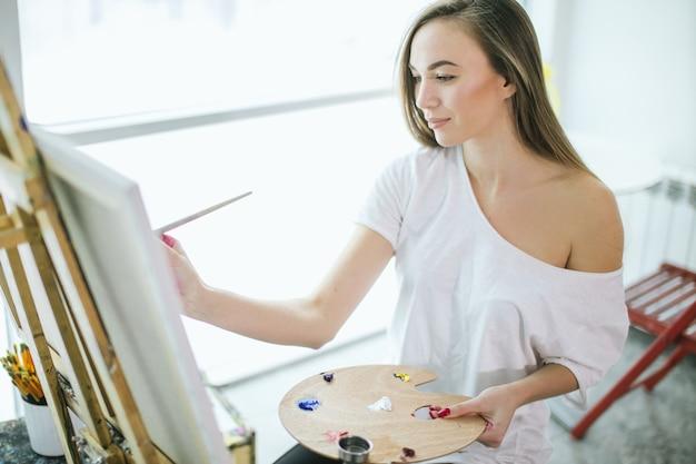 Hobby, rozrywka, dzieła sztuki i malarstwo olejne. zajęcia plastyczne