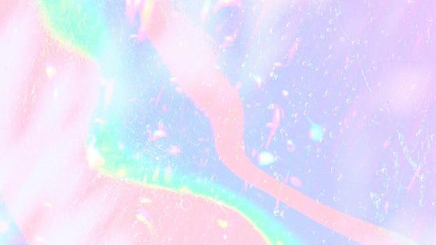 Holograficzna pastelowa falista przestrzeń projektowa