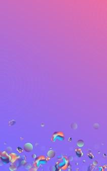 Hologram blob memphis wektor niebieskie tło. minimalna ilustracja holografii. lekki płynny wzór mody. kolorowy baner hipster.
