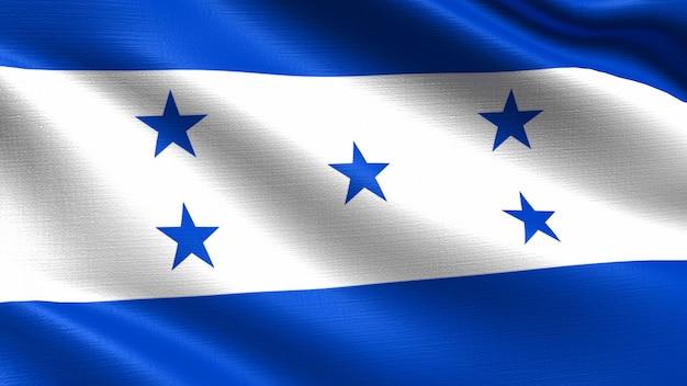 Honduras flaga z falującą tkaniny teksturą