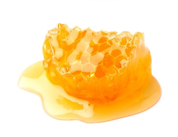 Honeycombs makro na białym tle