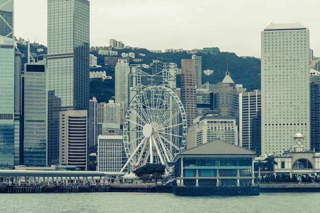 Hongkong miasta budynków, wieżowce, chiny