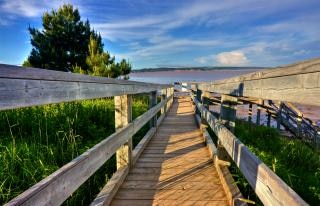 Hopewell plaża boardwalk hdr