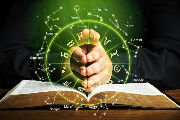 Horoskop astrologia horoskop zodiaku znak zodiaku fortuna mit gwiazdy symbol, tradycyjny