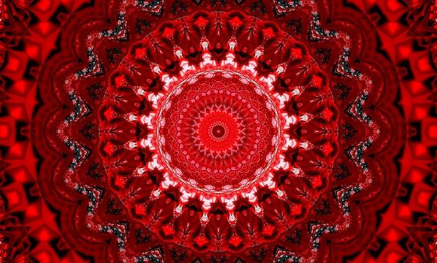 Horror czerwona gwiazda kalejdoskop wzór tapety