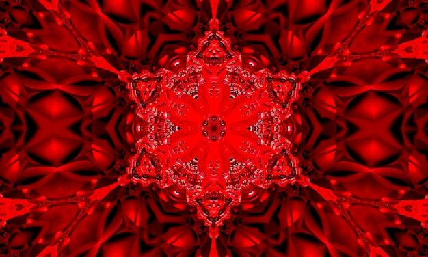 Horror czerwona gwiazda kalejdoskop wzór tapety.