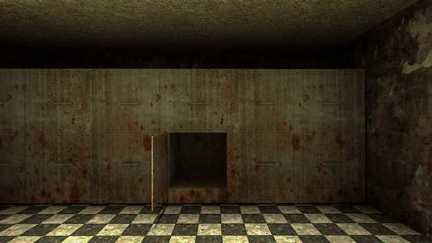 Horror i przerażająca kostnica w szpitalu