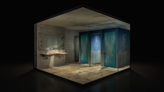 Horror i przerażająca toaleta w szpitalu.