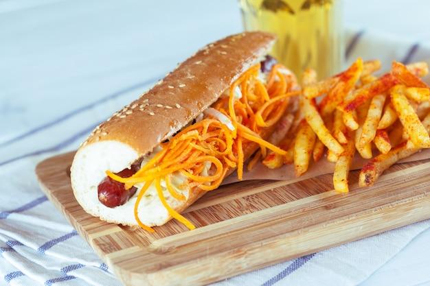 Hot dog with potato