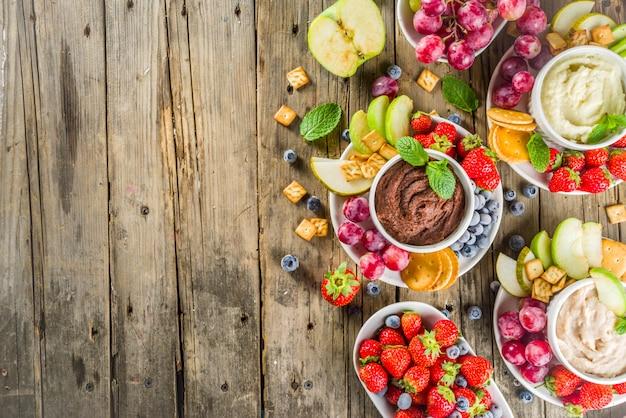 Hummus słodkich deserów domowej roboty