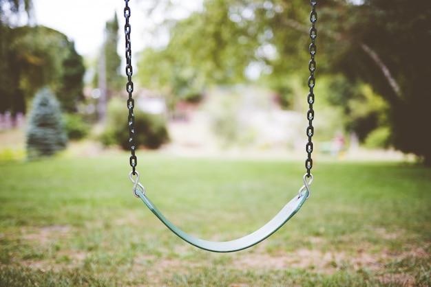 Huśtawka w parku