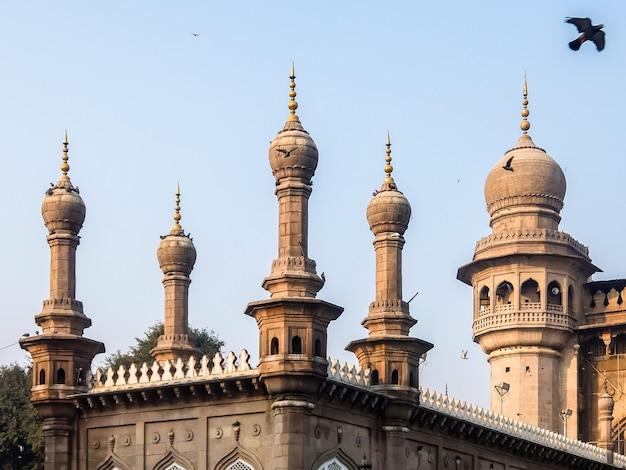 Hyderabad india widok na mecca masjid w hyderabad telangana india