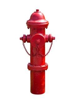 Hydrant czerwony na białym tle. ścieżka przycinająca zawiera się w tym obrazie.