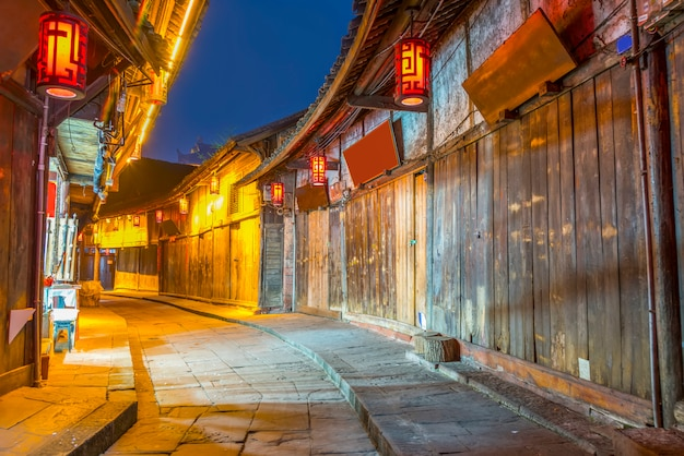 Iconic chiński ludzie kraju prowincji stylu życia