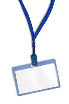 Identyfikator karty izolowany identyfikator za kulisami pusty dowód osobisty karty