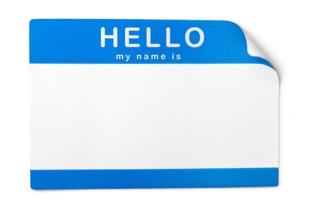 Identyfikator plakietki pusta na białym tle dowód osobisty pusty tag dodaj tekst