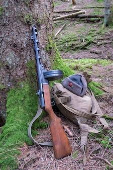 Ii wojna światowa radziecka broń armii czerwonej pistolet maszynowy ppsh