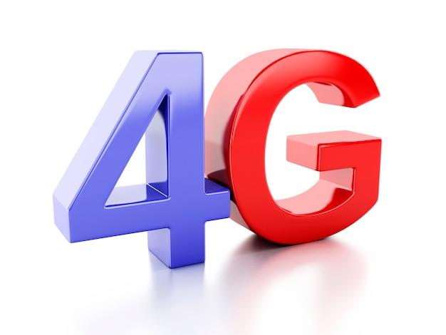 Ikona 4g. koncepcja technologii komunikacji bezprzewodowej