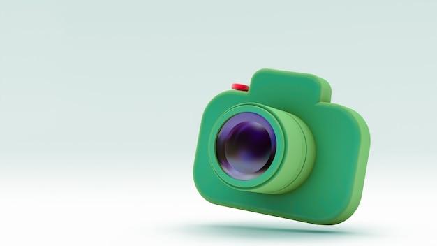 Ikona aparatu fotograficznego na białym tle