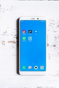 Ikona aplikacji mediów społecznościowych na ekranie smartfona