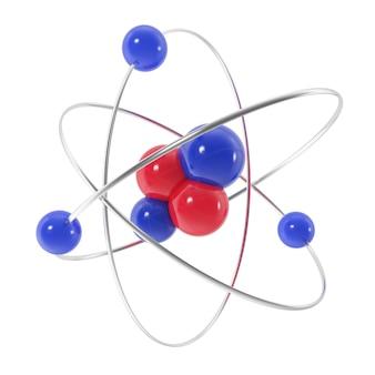 Ikona atomu na białym tle