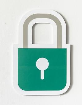 Ikona bezpieczeństwa blokady bezpieczeństwa prywatności