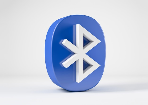Ikona bluetooth na białym tle