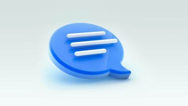 Ikona dymka czatu. koncepcja wiadomości w mediach społecznościowych, sms-ów, komentarzy.