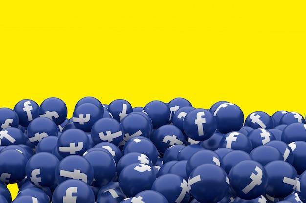 Ikona facebook emoji renderowania 3d