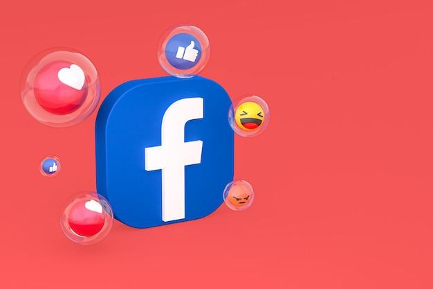 Ikona facebooka z renderowaniem 3d emoji
