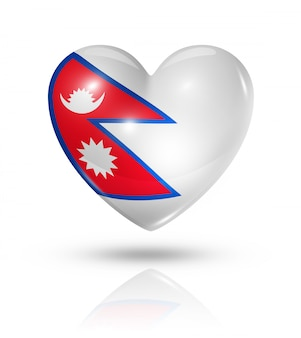 Ikona flagi miłości serca nepalu