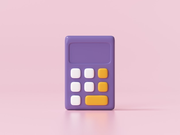 Ikona kalkulatora na różowo