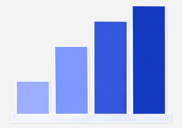 Ikona kolorowy wykres wzrostu na białym tle