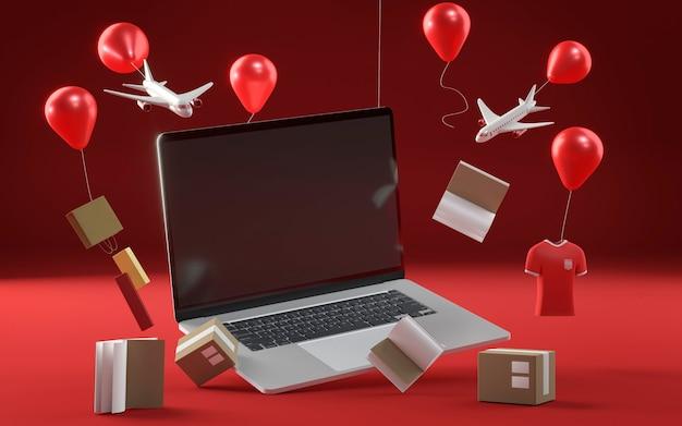 Ikona laptopa do specjalnej wyprzedaży w czarny piątek