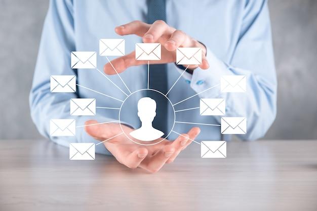 Ikona listu, ikony e-mail. skontaktuj się z nami newsletter e-mail chroń dane osobowe przed spamem.