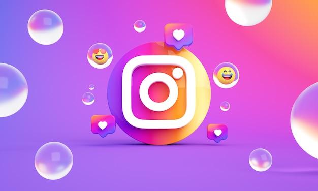 Ikona logo instagram zdjęcie premium