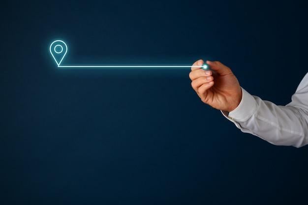Ikona mapy lokalizacji w interfejsie wirtualnym