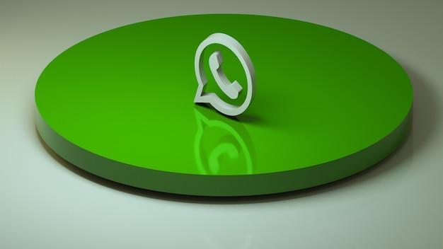 Ikona mediów społecznościowych 3d whatsapp