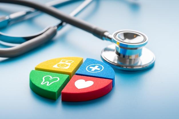 Ikona medycznych na puzzli