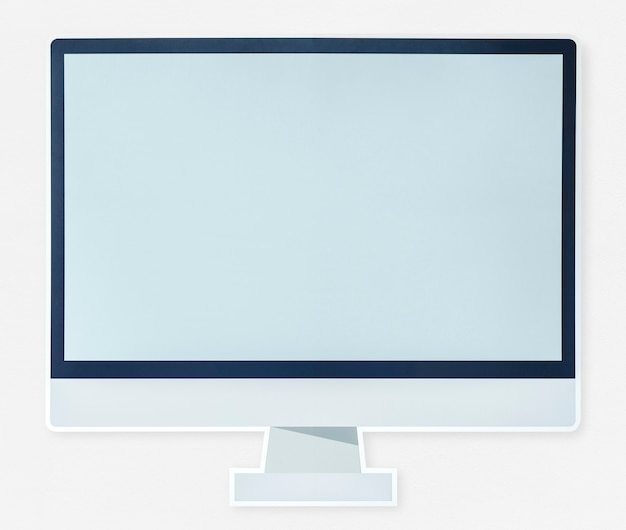 Ikona nowoczesny monitor komputera na białym tle