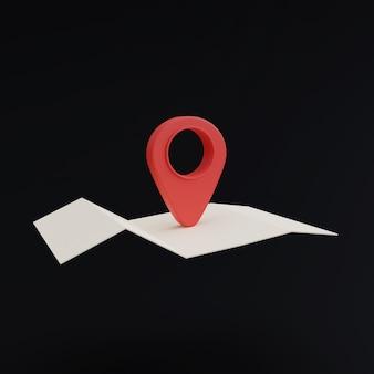 Ikona pinezki lokalizacji na czarnym tle