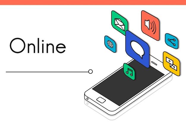Ikona połączenia internetowego w kontakcie