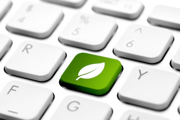 Ikona recyklingu na klawiaturze komputera