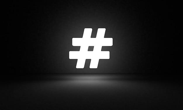 Ikona świecące hashtag
