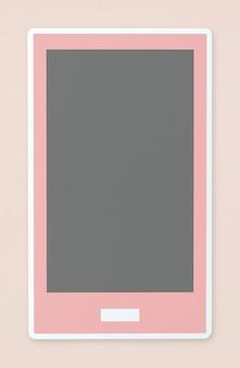 Ikona telefonu komórkowego na białym tle